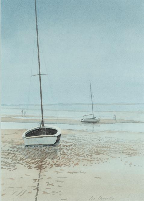 Sailboat on flats