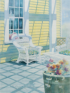 """Watercolor painting """"Summer Place"""""""
